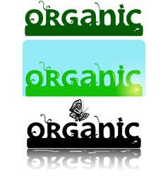 Organic ornate logotype text vector
