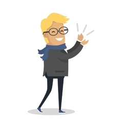 Sincere admiration concept in flat design vector