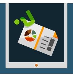 tablet screen flat design vector image