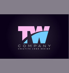 tw alphabet letter join joined letter logo design vector image vector image