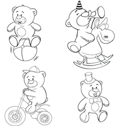 A set of bears Coloring book vector image vector image