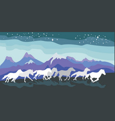 background with horses vector image vector image