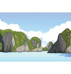 beautiful mountain landscape vector image vector image