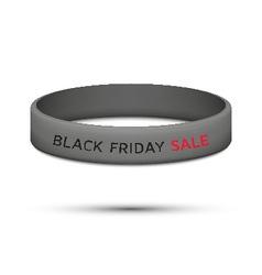 Black friday rubber wristband vector
