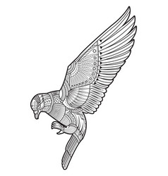 drawing dove pigeon vector image vector image