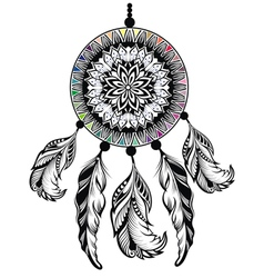 Dream Catcher Protection American Indians vector image