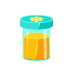 Jar Of Honey With Closed Lid Natural Honey vector image vector image