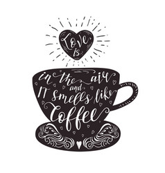 quote on coffee cup vector image vector image