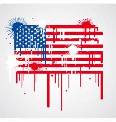 USA flag grunge vector image vector image