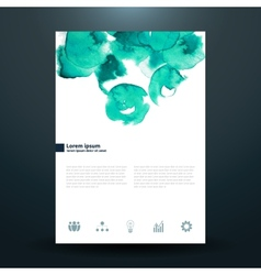 Watercolor business template with circles vector image vector image
