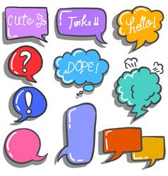 Art of speech bubble colorful vector