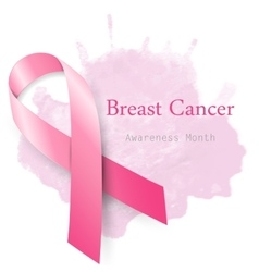 Breast cancer awareness month pink ribbon vector image