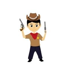 Cartoon of a little cowboy vector image