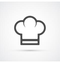 Chef cook cap trendy icon vector image vector image