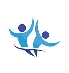 happy people logo image vector image vector image