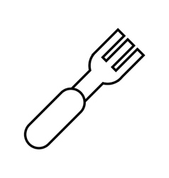 isolated fork cutlery vector image