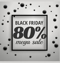 Modern black friday offer sale poster with black vector