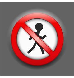 No Entry Sign vector image