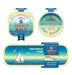 Set of summer sale labels tags stickers banners vector image vector image