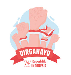 17 august indonesia independence vector