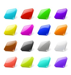 3d web buttons vector image