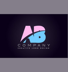Ab alphabet letter join joined letter logo design vector