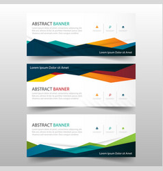 Abstract colorful polygonal banner template vector