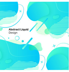 abstract liquid design set posters template vector image
