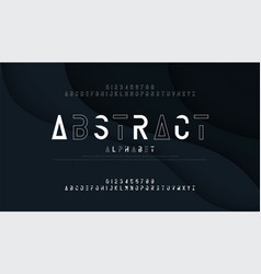 abstract thin line font minimal alphabet modern vector image