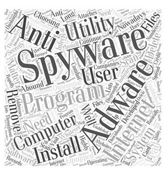 Adware software removal spyware Word Cloud Concept vector