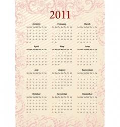American pink calendar 2011 vector image