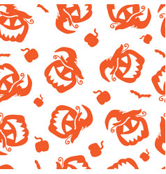 art seamless pattern for happy halloween vector image