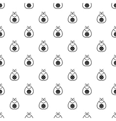 Baby bib pattern simple style vector