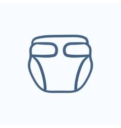 Baby diaper sketch icon vector image