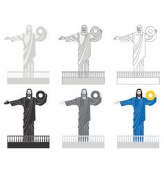 Balneario camboriu christ light vector