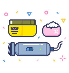 Barber shop stylish lined art high quality icon vector