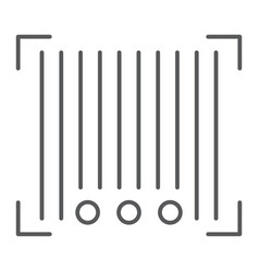 barcode thin line icon scanner and identification vector image