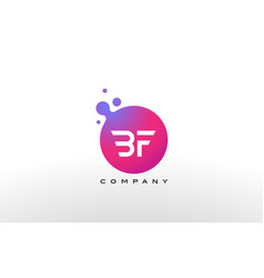 Bf letter dots logo design with creative trendy vector