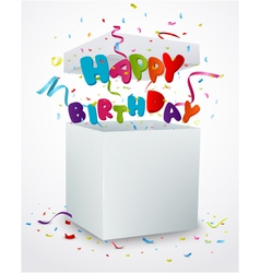 Birthday message box with confetti vector image