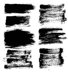Black grunge strokes backgrounds set vector