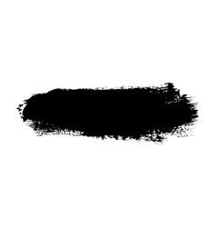 brush stroke isolated on white background black vector image