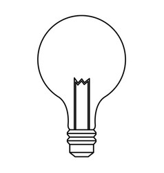 bulb light electric innovation science line vector image