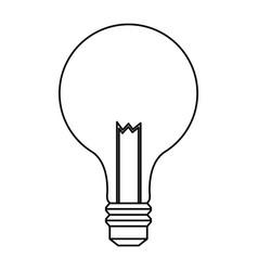 Bulb light electric innovation science line vector