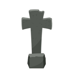 Cartoon tombstone with rip of a funny vector
