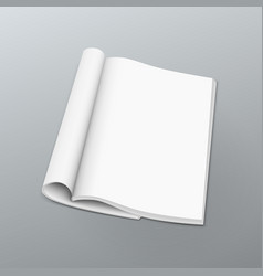 clean blank catalog or magazines book mock up vector image