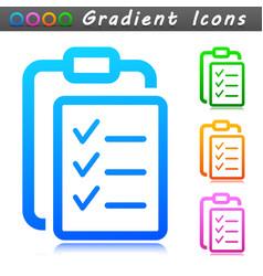 clipboard symbol icon design vector image
