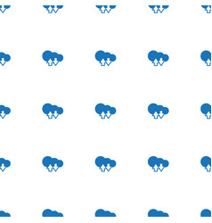 cloud download upload icon pattern seamless white vector image
