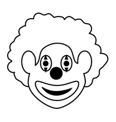 Clown face icon image vector