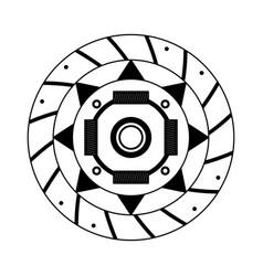 Clutch plate auto spare part design image vector