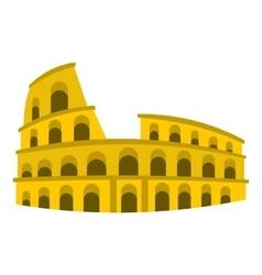 Coliseum icon flat style vector